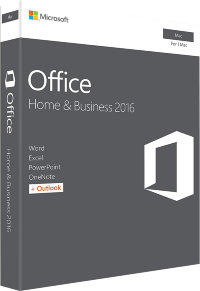 Microsoft Office 2016 Home and Business for MAC BOX